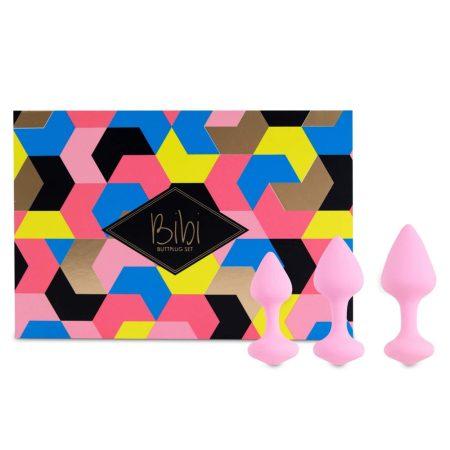 FEELZTOYS Bibi - anál dildó szett - pink (3 részes)