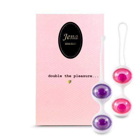 FEELZTOYS Jena - variálható gésagolyó szett (pink-lila)