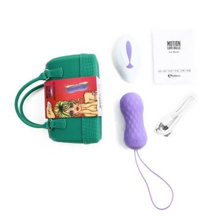 FEELZTOYS Jivy - akkus, rádiós, vízálló, lökő vibrációs tojás (lila)