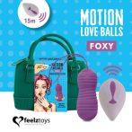FeelzToys Foxy - akkus,rádiós,vízálló vibrációs tojás (lila)