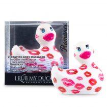My Duckie Romance 2.0 - csókos kacsa vízálló csiklóvibrátor (fehér-pink)