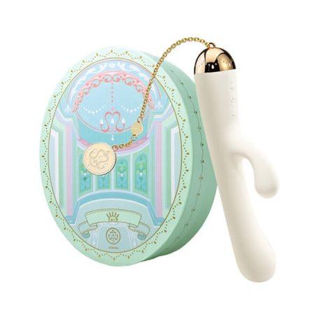 ZALO Ichigo Rabbit - akkus, luxus, csiklókaros vízálló vibrátor (fehér)