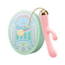 ZALO Ichigo Rabbit - akkus, luxus, csiklókaros vízálló vibrátor (pink)