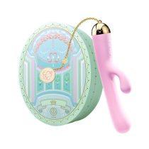 ZALO Ichigo Rabbit - akkus, luxus, csiklókaros vízálló vibrátor (lila)
