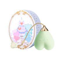 ZALO Baby Heart - akkus, vízálló luxus csikló vibrátor (zöld)