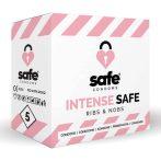 SAFE Intense Safe - bordázott-pontozott óvszer (5db)