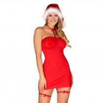 Obsessive Kissmas - nyakpántos ruha szett (piros)