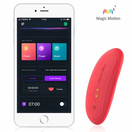Magic Motion Nyx - okos, akkus, vízálló csiklóvibrátor (korall)